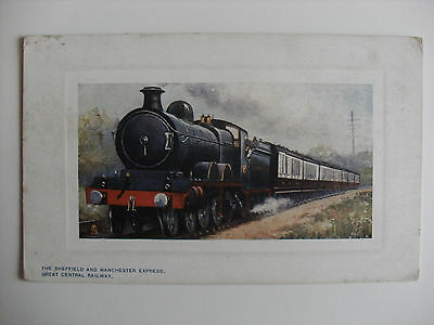 Old Unused Postcard Tucks Locomotive Great Central Railway Sheffield Manchester
