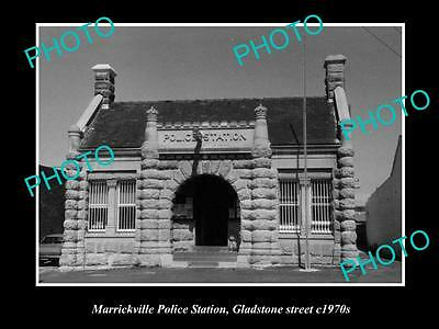 Old Large Historic Photo Of Marrickville Sydney Nsw, The Police Station 1970