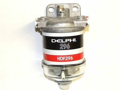 New Single Water Separator Assembly Diesel Fuel Filter Glass Bowl Delphi Hdf296
