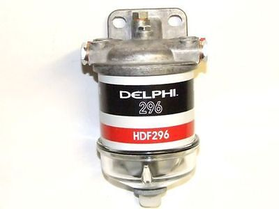 Single Water Separator Assembly 14Mm Diesel Fuel Filter Glass Bowl Delphi Hdf296
