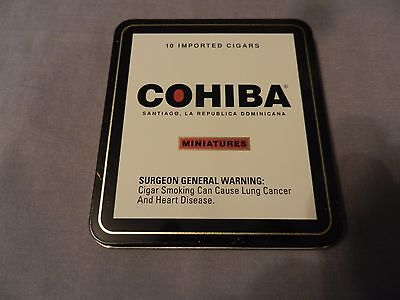 Cohiba Miniatures Imported Cigars Empty Metal Tin