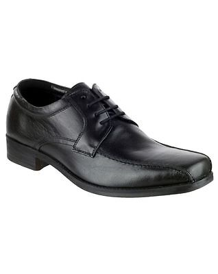 Tigg Leather Shoe Lace Mens Shoes BLACK