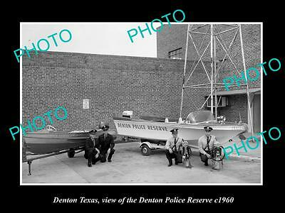 OLD LARGE HISTORIC PHOTO OF DENTON TEXAS, THE DENTON POLICE RESERVE c1960s