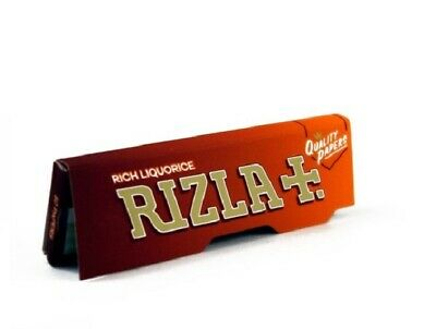 NEW Rizla Liquorice Rolling Papers Standard size BROWN (1/2/5/10/20/50/100)pcs