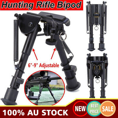 "AU SHIP Adjustable 6"" to 9"" Height Sniper Hunting Rifle Bipod Sling Swivel Mount"