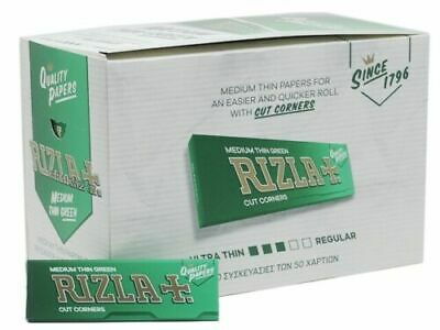 Green Rizla Rolling papers Standard Size Box of 100 Booklets *Original Full Box*
