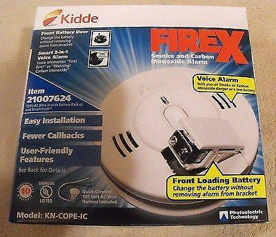 Kidde Firex Kn-Cope-I Hardwired Combination Smoke And Carbon Photoelectric Alarm