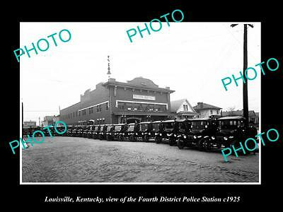 OLD LARGE HISTORIC PHOTO OF LOUISVILLE KENTUCKY THE 4th Dis POLICE STATION c1925