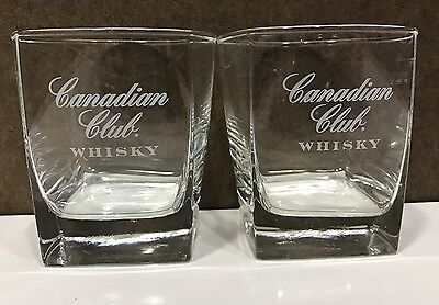 Canadian Club Cocktail Whisky Glasses Set of 2