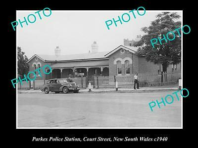 OLD LARGE HISTORIC PHOTO OF THE PARKES POLICE STATION NSW c1940