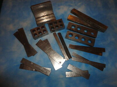 """Large Lot Of Machinist Tools: 1-2-3, """"v"""" & Step Blocks And Parallel Bars"""
