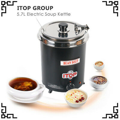 Kettle boiler Electric Soup warming stainless steel bowl Ironspraying US instock