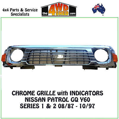 Nissan GQ Chrome Grille - 8/87 - 10/97 With Lights NEW REPLACEMENT