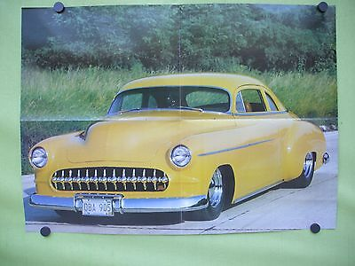 vintage 1983 double sided  poster.1950's Chevrolet street rod,car show  belgium