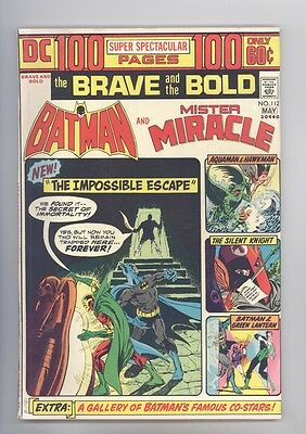Brave and the Bold #112 FN Giant, Aparo, Fradon, Batman, Mister Miracle, Aquaman