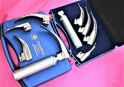 Premium Set Of 5 Laryngoscope Macintosh Mac Intubation Blades  Anesthesia