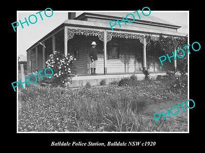 OLD LARGE HISTORIC PHOTO OF THE BALLDALE POLICE STATION, NSW c1920, COROWA AREA