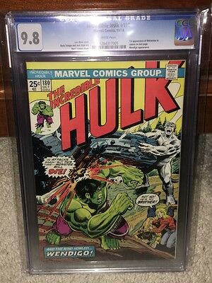 Hulk #180 CGC 9.8 1974 1st Wolverine! WHITE pages! Before issue #181! F12 125 cm