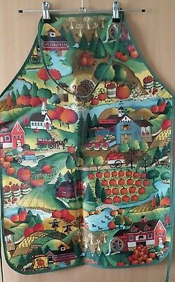 Annabel Trend APRON- country theme, Made in Australia. NEW. Waterproof coated