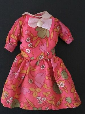 Barbie Vintage Clothes Japanese Exclusive ? Flower Pattern Pink Dress with Tag