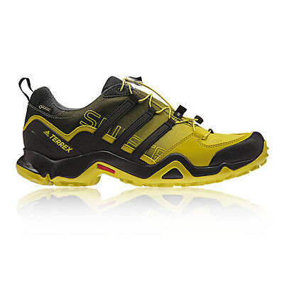 Adidas Terrex Swift R Mens Yellow Black Waterproof Gore Tex Walking Hiking Shoes