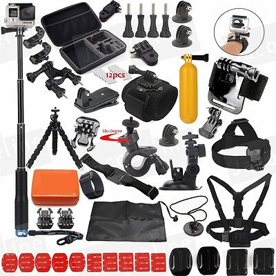 Selfie Sticks Accessories Kit for Gopro HERO 5 3+ 4 Session Hero 3 SJCAM SJ5000