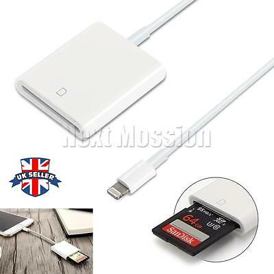 OTG Lightning to SD Card Camera Reader Photo Adapter 2in1 for apple iPad iPhone