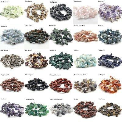 """8-18 mm Freeform Natural Stone gemstone Chips Beads For Jewelry Making 15.5"""""""