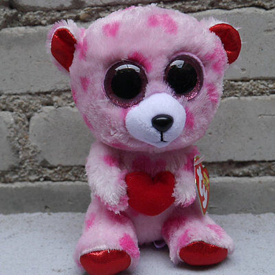 ty beanies BOOS Sweet pink bear Sweetkins Love stuffed animal new