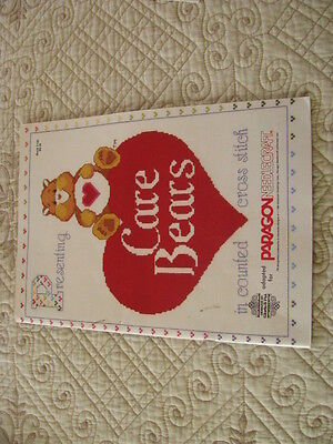 Counted Cross Stitch Book - Care Bears