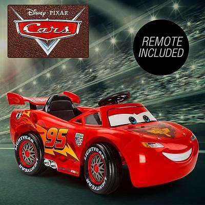 Kids Toy Ride On Electric Lightning McQueen Car 25W 12V Battery 4-7KPH w/ Remote