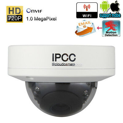 HD 720P WIFI ONVIF CCTV IP Cámara Dome Vídeo IR LED Seguridad Casa por Móvil ES