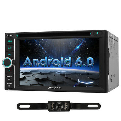 Double Din Android 6.0 Car DVD Player Quad Core Radio GPS Satnav DAB Wifi camera