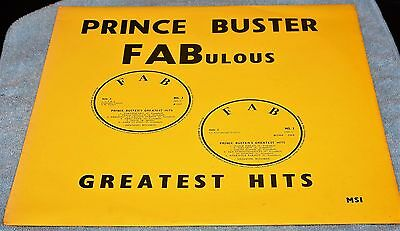 PRINCE BUSTER  FABulous Greatest Hits Uk FAB 1 Rare VG/EX Ska