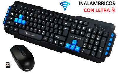Teclado Y Raton Inalambrico Para Ordenador Keyboard Key Wireless 10 Metros