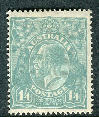 AUSTRALIA-1927 1/4 Pale Greenish Blue Perf 14 lightly mounted mint example Sg 93