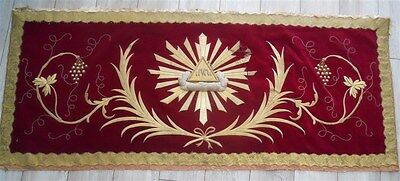 Altar Frontal valance 19th-century French antique gold metallic embroidery