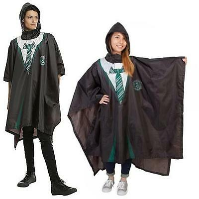 Harry Potter - Slytherin Robe Hooded Poncho - New & Official Warner Bros In Bag
