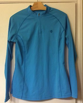 COOLIBAR UPF 50 LONG SLEEVE COOL FITNESS SHIRT SUN PROTECTION Adult F Med Blue