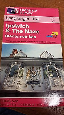 Ipswich & The Naze, Clacton-On-Sea: Landranger 169: Ordnance Survey Map
