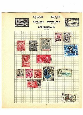 BARBADOS Bechuanaland BAHAMAS Hinged POSTALLY USED Antique / Vintage STAMPS
