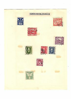 CZECHO-SLOVAKIA Hinged Postally Used Antique / Vintage STAMPS
