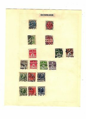 DENMARK Hinged Postally Used Antique / Vintage STAMPS