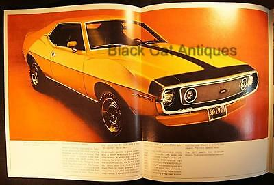 Original 1971 American Motors Javelin Color Fold-Out Brochure Canada