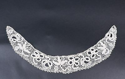 Antique Hand Made Irish Crochet Lace Collar For Dress