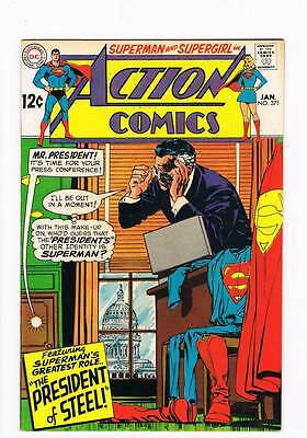 Action Comics # 371 The President of Steel ! grade 8.5 scarce book !!