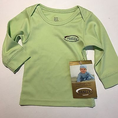 NWT Halo INFANT Pale Green Technical Comfort System Long Sleeve Size 0-3 Months