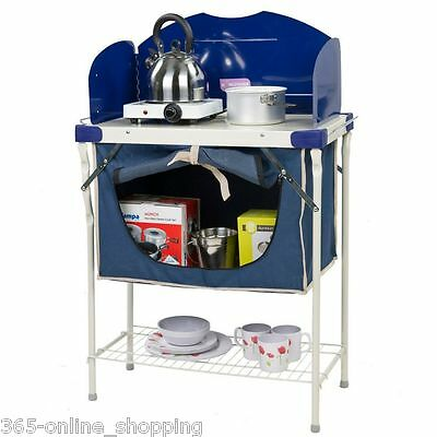 Camping Portable Kitchen Food Storage Pantry Cupboard Bbq & Gas Stove Stand