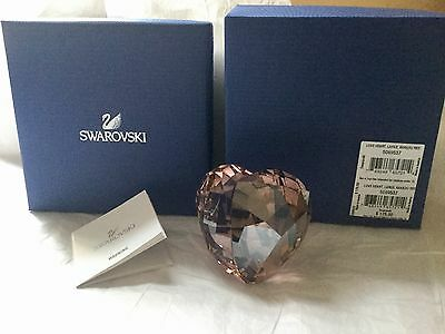 Retired Large Swarovski Love Heart Crystal Paperweight Valentines Day Gift Nib