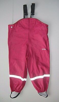 DIDRIKSONS 1913 Bright Pink Storm RAIN BIBS Suit Pants Size Kid YOUTH 100 SMALL